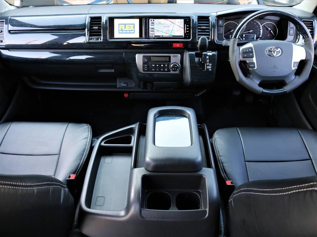 新車ハイエースワゴン 4WD GL TSSP付 FLEX R1内装架装 トリプルナビPKG!