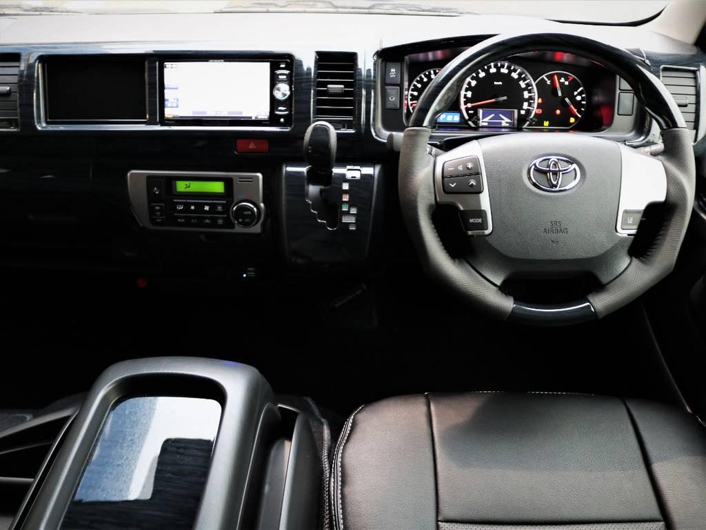 高級感溢れる室内!黒木目パネルセット! | トヨタ ハイエース 2.7 GL ロング ミドルルーフ 4WD 内装アレンジR1 新型