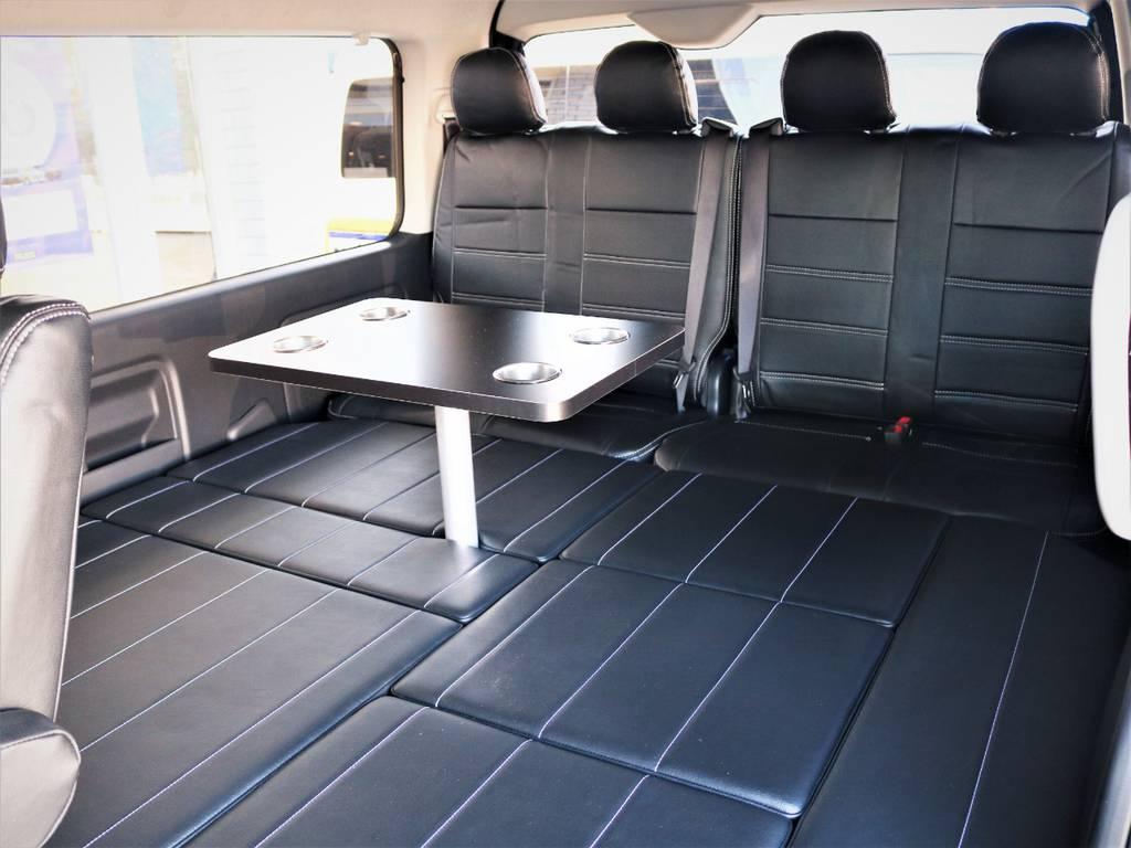 就寝スペース広々御座います! | トヨタ ハイエース 2.7 GL ロング ミドルルーフ 4WD 内装アレンジR1 新型