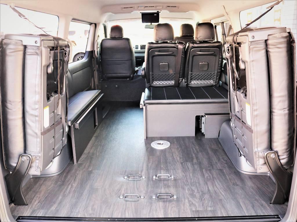 収納広々御座います! | トヨタ ハイエース 2.7 GL ロング ミドルルーフ 4WD 内装アレンジR1 新型