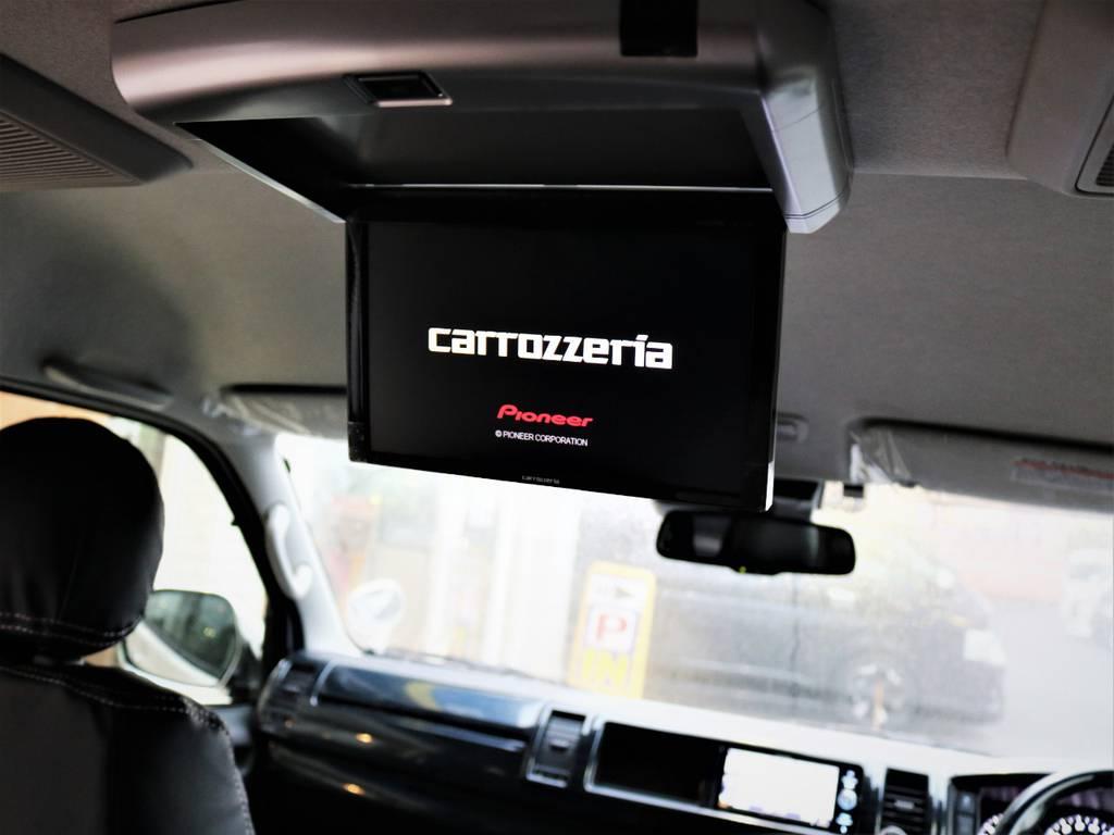 カロッツェリア製フリップダウンモニター! | トヨタ ハイエース 2.7 GL ロング ミドルルーフ 4WD 内装アレンジR1 新型