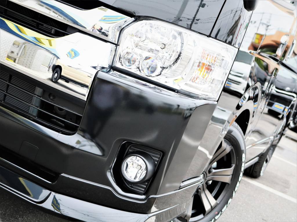 夜間走行に安心のメーカーオプション「LEDヘッドライト」! | トヨタ ハイエース 2.7 GL ロング ミドルルーフ 4WD 内装アレンジR1 新型