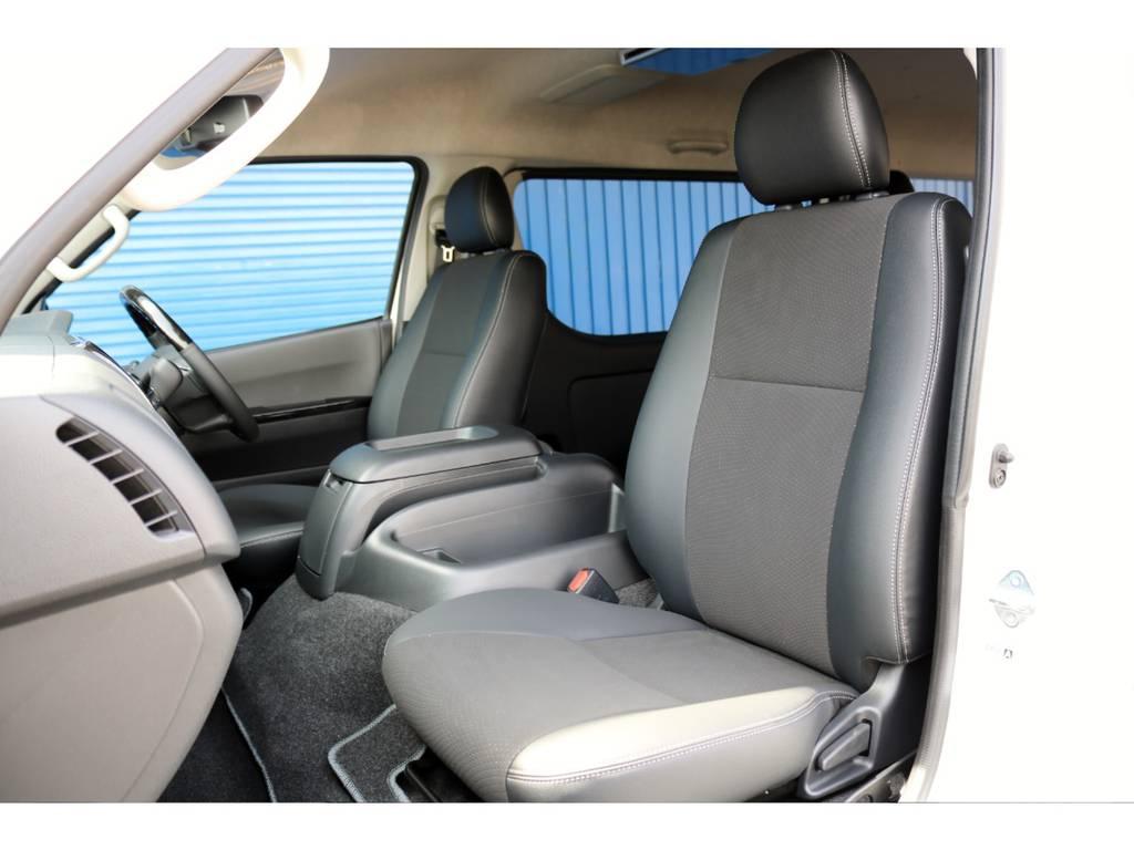 DARKPRIME特別装備 ハーフレザー調シート! | トヨタ ハイエースバン 2.7 スーパーGL ワイド ロング ミドルルーフ 4WD ダークP FU-Wスライド TSS付き