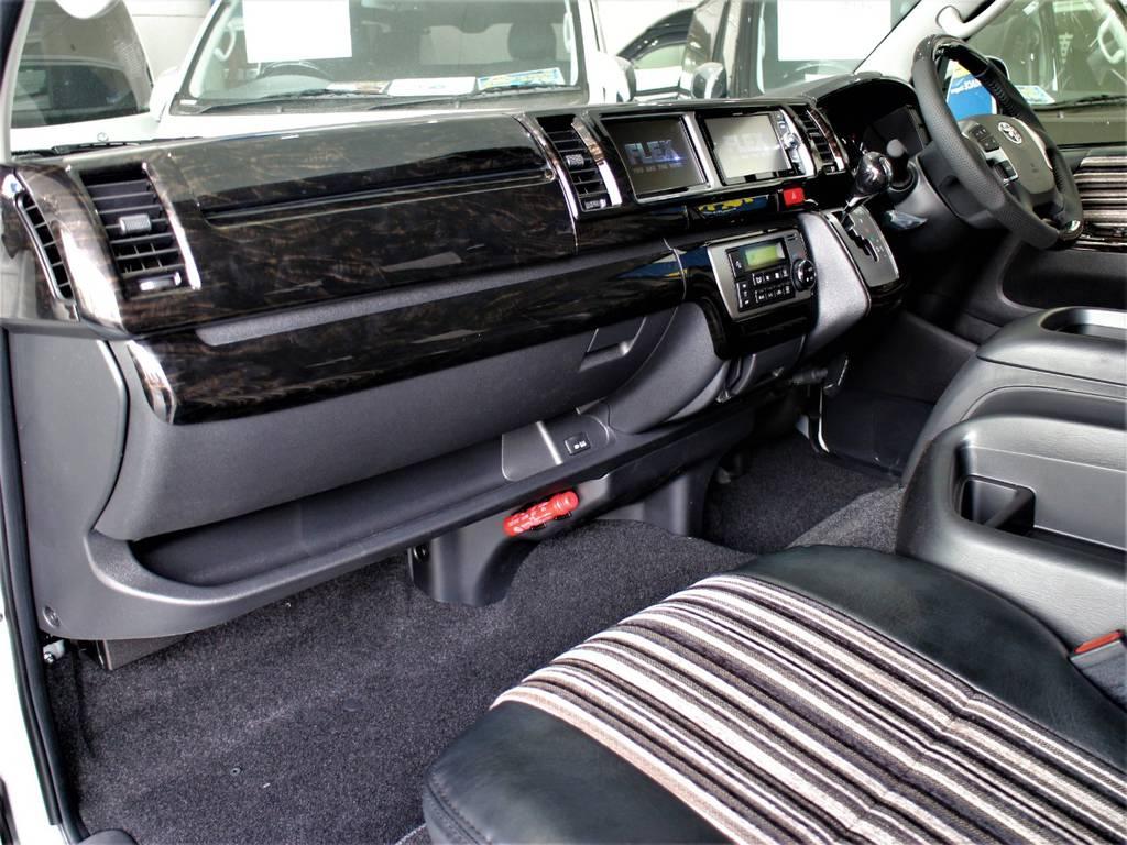 インテリアパネル! インテリアシフトノブ! インテリアコンビステアリング! | トヨタ ハイエース 2.7 GL ロング ミドルルーフ 新型 トヨタセーフティーセンス