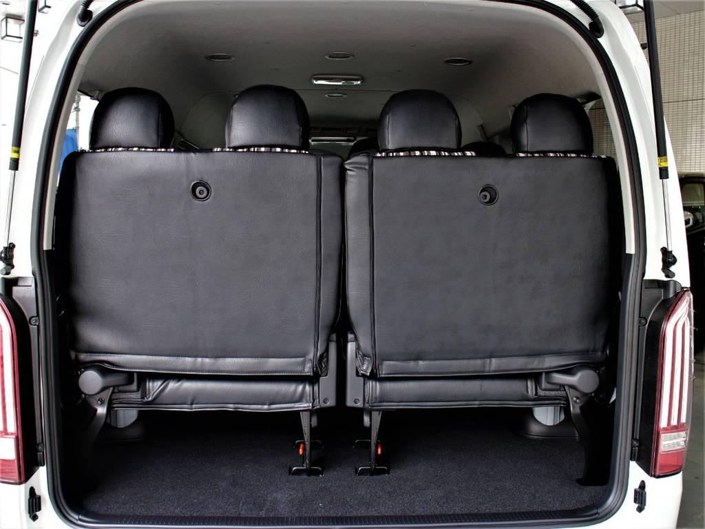 後席4人定員です! | トヨタ ハイエース 2.7 GL ロング ミドルルーフ 新型 トヨタセーフティーセンス