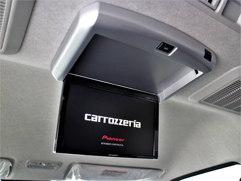 カロッツェリア後席フリップダウンモニター! | トヨタ ハイエース 2.7 GL ロング ミドルルーフ 新型 トヨタセーフティーセンス