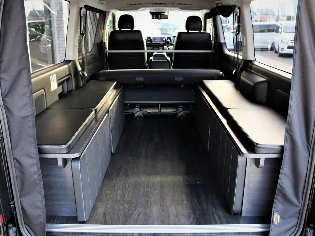 ベッドマットを取り外した状態!収納広々御座います! | トヨタ ハイエースバン 2.0 スーパーGL ロング ダークプライム 新型 VER4