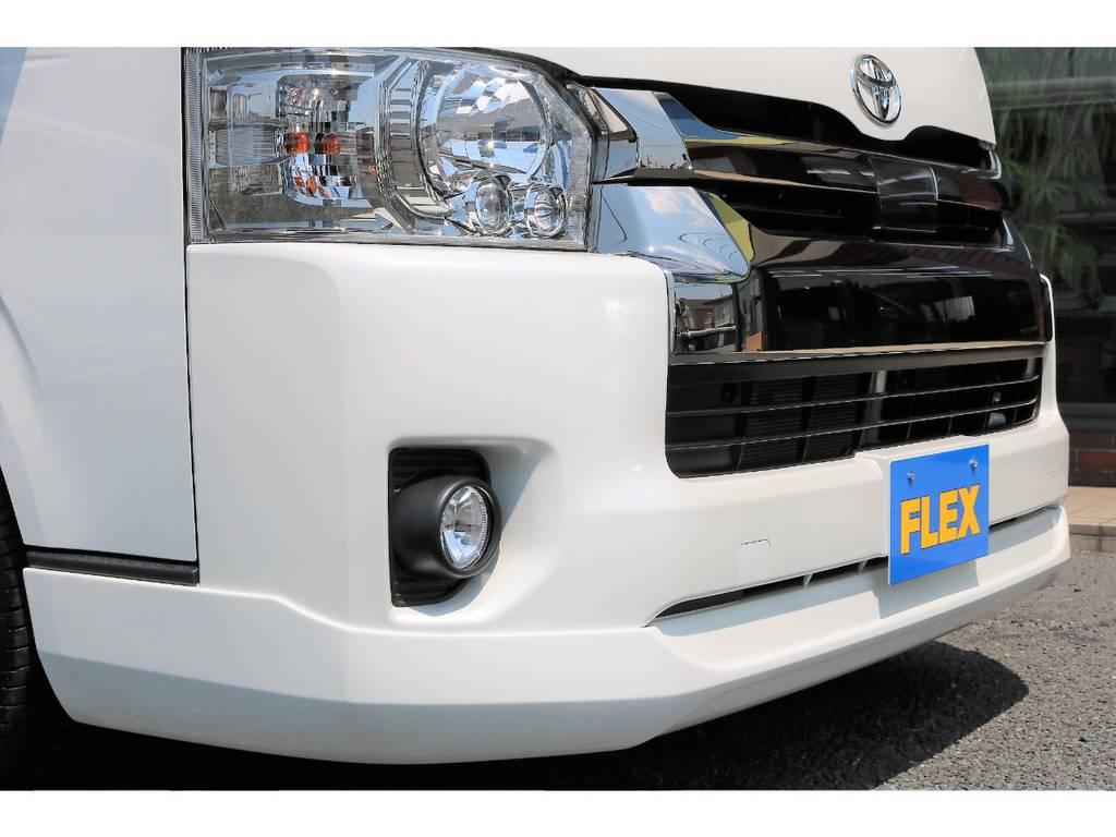 ESSEXのフロントリップスポイラー装着済みです!   トヨタ ハイエースバン 2.7 スーパーGL ワイド ロング ミドルルーフ 4WD ダークP TSS Ver.8