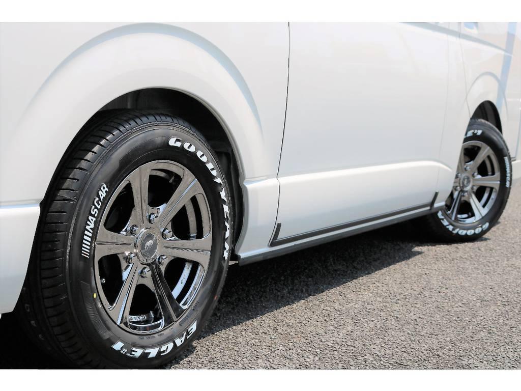 1.5インチローダウン済みです!2.1m制限の立体駐車場にもご入庫が可能です!   トヨタ ハイエースバン 2.7 スーパーGL ワイド ロング ミドルルーフ 4WD ダークP TSS Ver.8