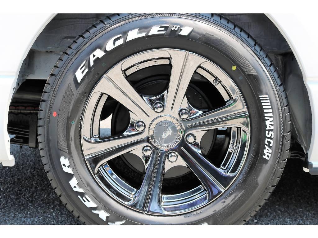 ロデオドライブ&ナスカータイヤのセットです!   トヨタ ハイエースバン 2.7 スーパーGL ワイド ロング ミドルルーフ 4WD ダークP TSS Ver.8