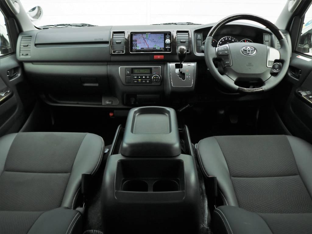 ダークプライム専用内装インテリア♪ | トヨタ ハイエースバン 2.8 スーパーGL ロング ディーゼルターボ 4WD ダークP TSS付・寒冷地