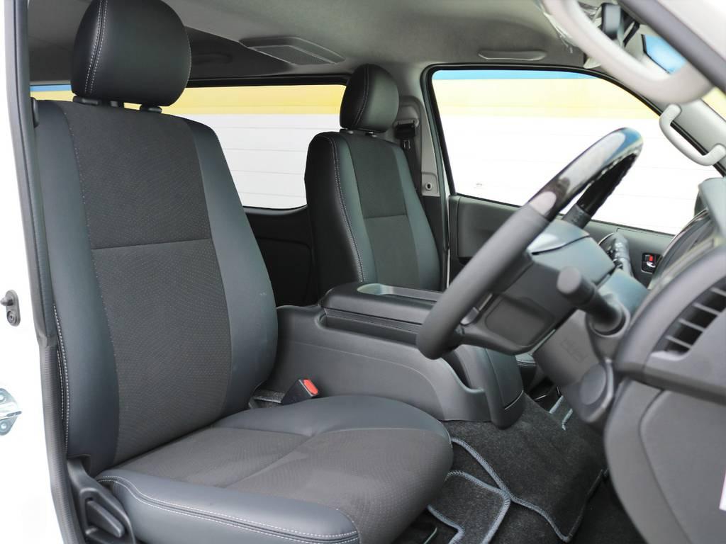 ダークプライム専用ハーフレザーシート♪ | トヨタ ハイエースバン 2.8 スーパーGL ロング ディーゼルターボ 4WD ダークP TSS付・寒冷地