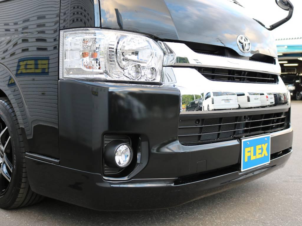 ラブラーク クリンルックⅢフロントリップスポイラー! | トヨタ ハイエース 2.7 GL ロング ミドルルーフ 4WD ファインテックツアラー