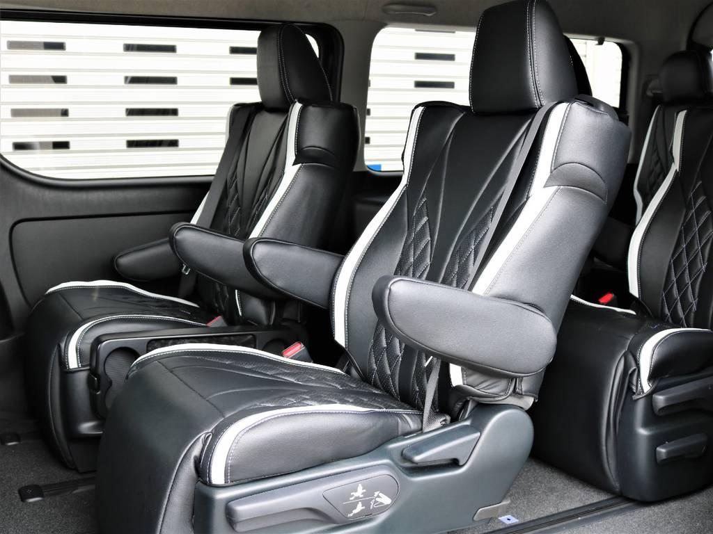 アルファード・ヴェルファイアのシートを4脚搭載! | トヨタ ハイエース 2.7 GL ロング ミドルルーフ 4WD ファインテックツアラー