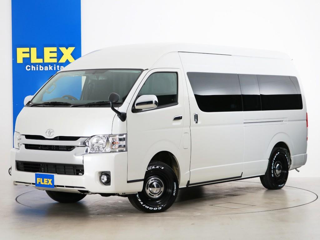 新車 ハイエースバン DX ワイド スーパーロング ハイルーフ 4WD FLEXオリジナルキャンピングカー【SH-TYPE02】!