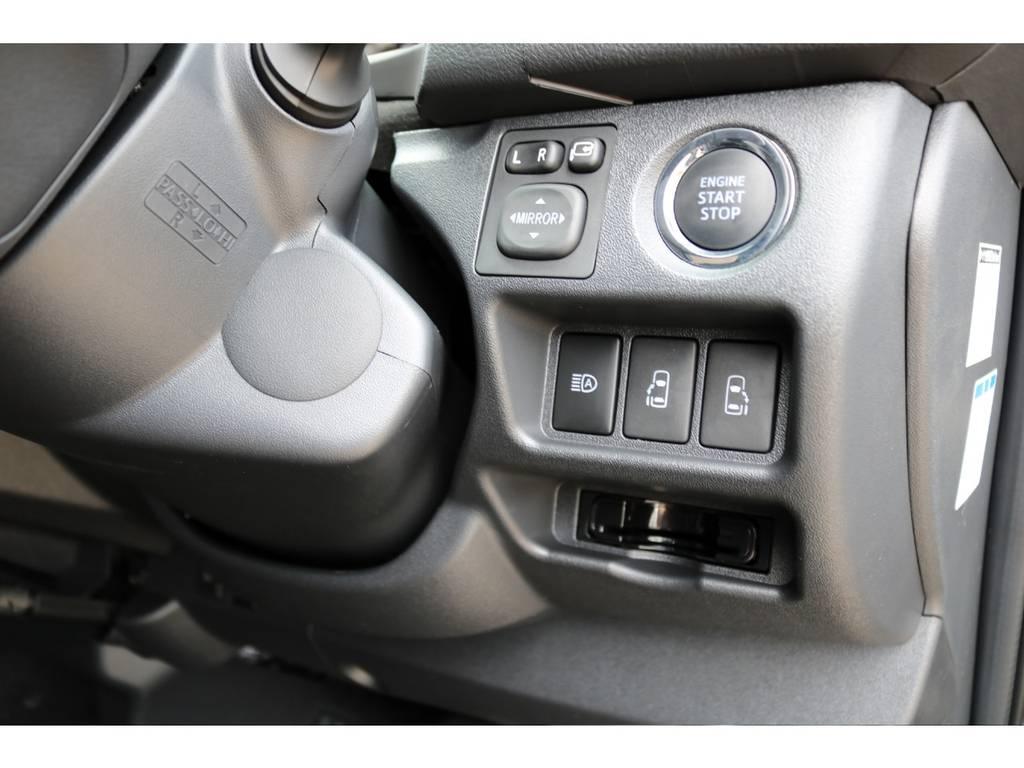 メーカーオプションのSRS助手席エアバッグ&AC100V電源&両側パワースライドドアも装備! | トヨタ ハイエースバン 2.8 スーパーGL ダークプライム ロングボディ ディーゼルターボ 4WD Ver4 D/P TSS付