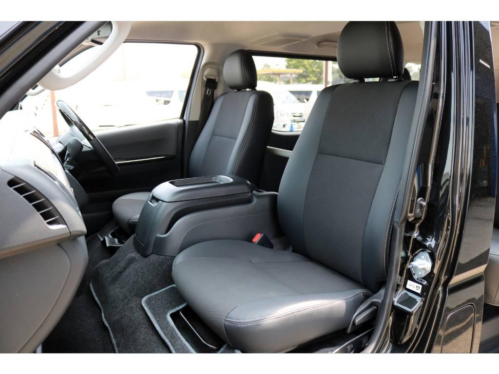 特別仕様車ダークプライム専用シート表皮のトリコット+合成皮革&ダブルステッチ! | トヨタ ハイエースバン 2.8 スーパーGL ダークプライム ロングボディ ディーゼルターボ 4WD Ver4 D/P TSS付
