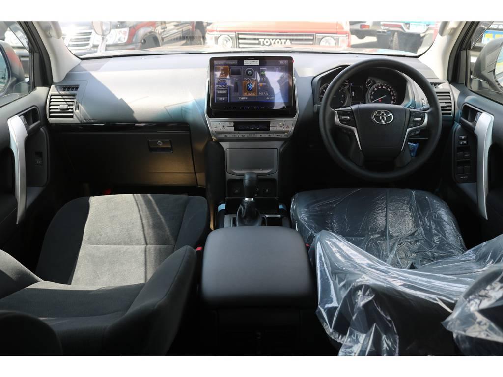 大迫力11インチナビで見るテレビやDVDはより車内での時間を楽しくしてくれます☆ | トヨタ ランドクルーザープラド 2.7 TX 4WD 5人 新車未登録車