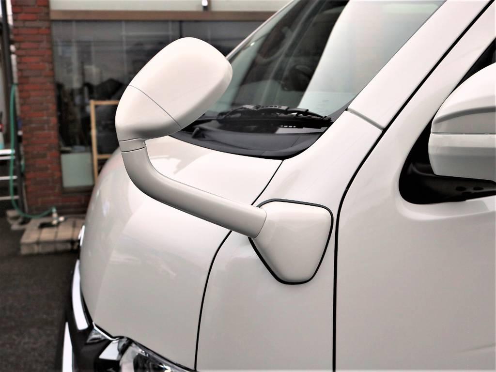 ガッツミラー同色に加工済みです! | トヨタ ハイエース 2.7 GL ロング ミドルルーフ 4WD アレンジR1 TSS付