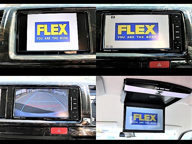 社外フルセグSDナビ&サブモニター、フリップダウンモニター付きです!ドライブ中にお好みの映像をお楽しみいただけます! | トヨタ ハイエース 2.7 GL ロング ミドルルーフ 4WD アレンジR1 TSS付