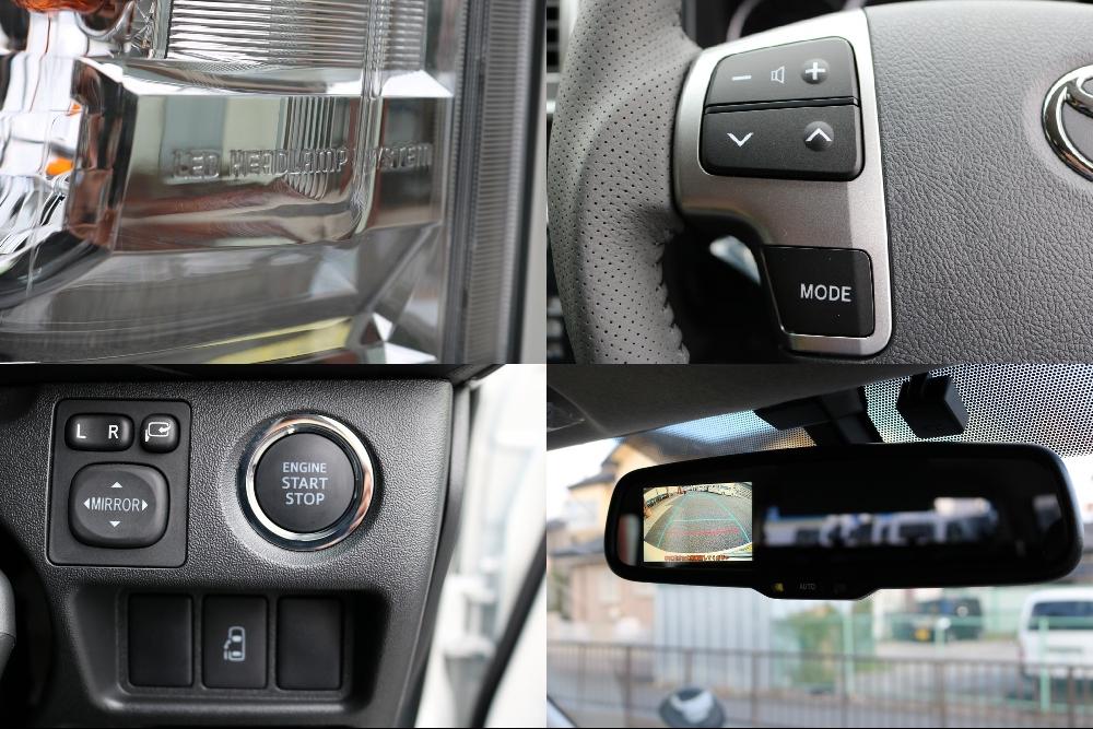 人気のメーカーオプション多数装着済みです! | トヨタ ハイエース 2.7 GL ロング ミドルルーフ 4WD アレンジR1 TSS付