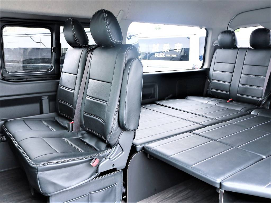 ファミリーにおススメのレイアウトです! | トヨタ ハイエース 2.7 GL ロング ミドルルーフ 4WD アレンジR1 TSS付