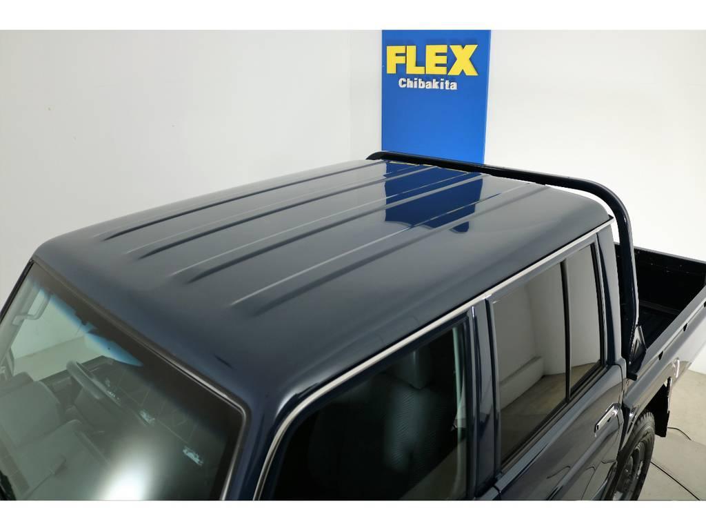ルーフに大きな日焼けや凹み無くグッドコンディション! | トヨタ ランドクルーザー70 4.0 4WD ピックアップ