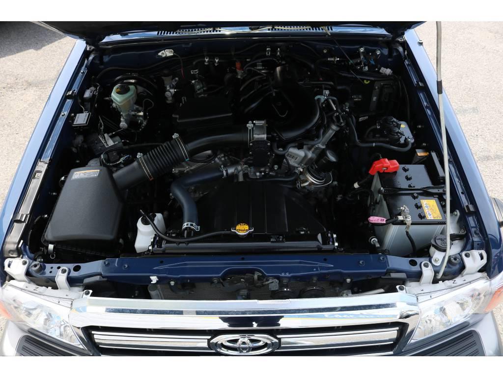 4000ccのパワフルなエンジン! | トヨタ ランドクルーザー70 4.0 4WD ピックアップ