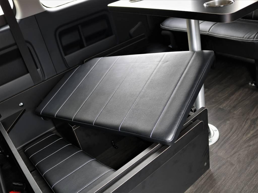 ベットマットはスッキリと収納!! | トヨタ ハイエース 2.7 GL ロング ミドルルーフ 4WD TSS付 アレンジR1