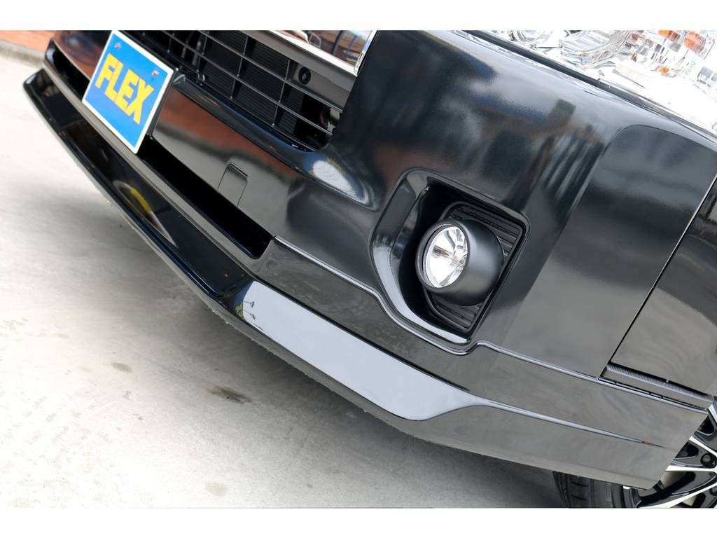 FLEXオリジナル Delfino Lineフロントスポイラーを装着!! | トヨタ ハイエース 2.7 GL ロング ミドルルーフ 4WD TSS付 アレンジR1