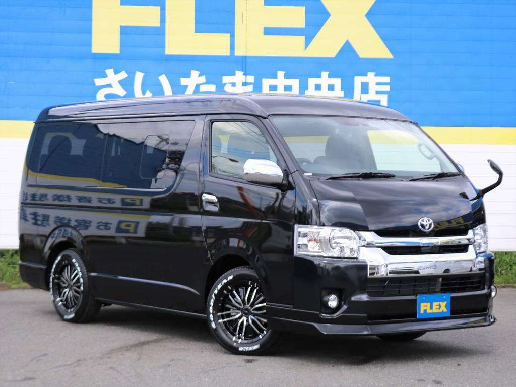 ハイエースワゴン GL 4WD 寒冷地仕様&+ミラーヒーター付き車両入庫しました!FLEX人気内装アレンジR1にトリプルモニター完備! | トヨタ ハイエース 2.7 GL ロング ミドルルーフ 4WD TSS付 アレンジR1 トリプルモニター