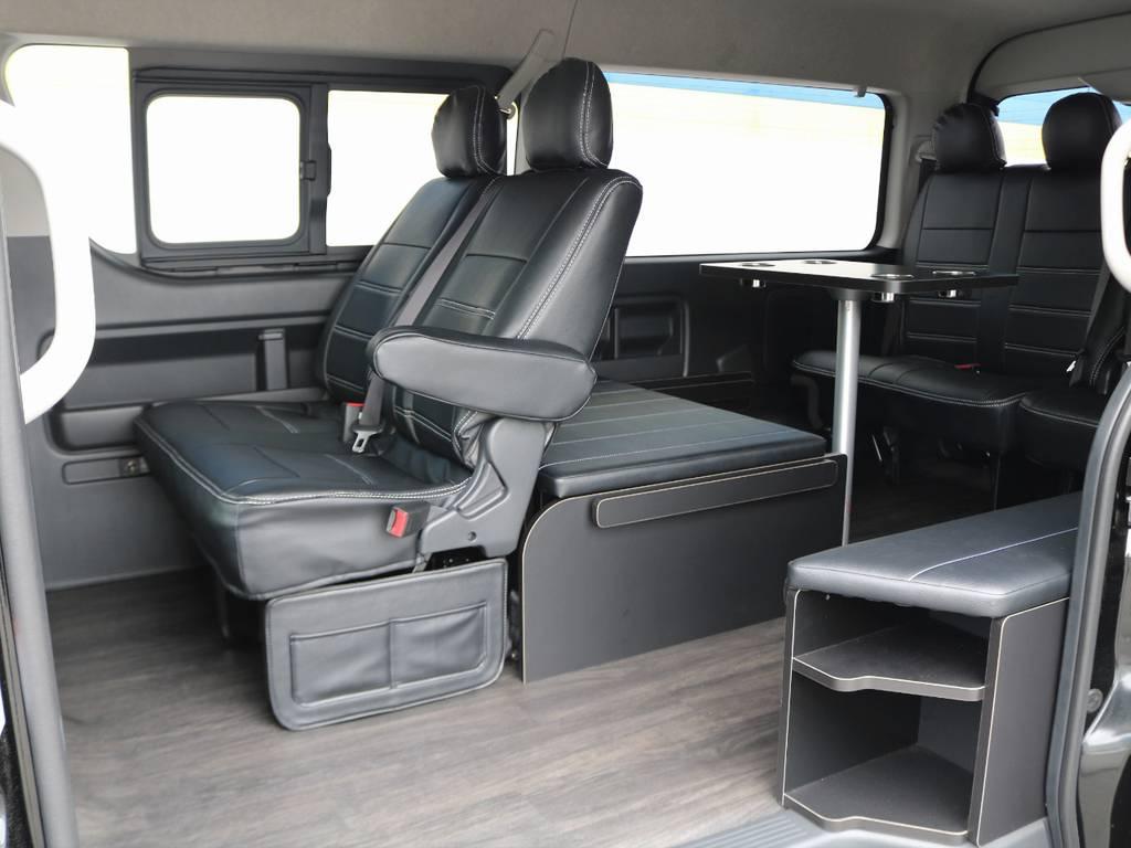 ベットマットはすべて収納も可能です! | トヨタ ハイエース 2.7 GL ロング ミドルルーフ 4WD TSS付 アレンジR1 トリプルモニター