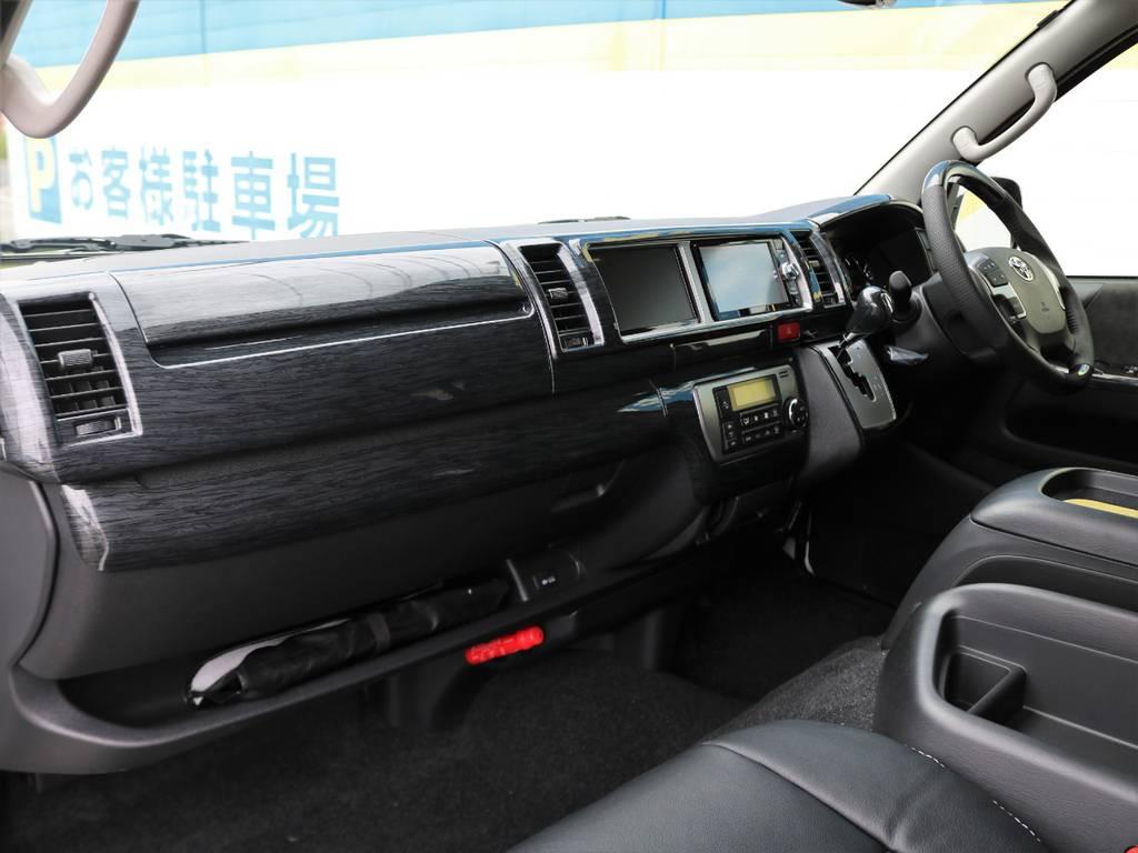 ボディーコーティング、ウィンドウフィルム、各部LED化などご希望されるお客様もよくいらっしゃいますよ♪ | トヨタ ハイエース 2.7 GL ロング ミドルルーフ 4WD TSS付 アレンジR1 トリプルモニター