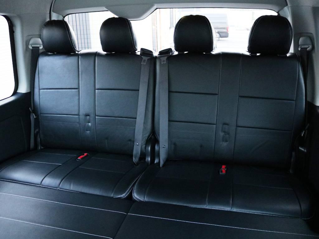 4列目は2人掛けシート×2脚! | トヨタ ハイエース 2.7 GL ロング ミドルルーフ TSS付 内装アレンジVer2