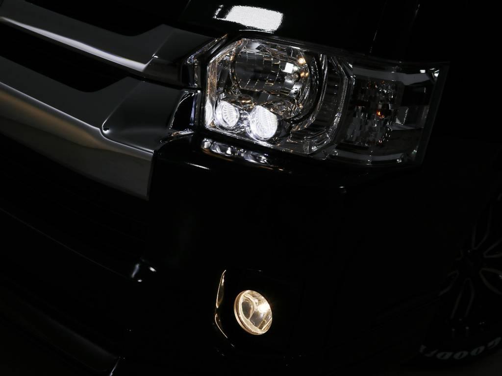 メーカーオプション LEDヘッドランプ♪ | トヨタ ハイエース 2.7 GL ロング ミドルルーフ TSS付 内装アレンジVer2