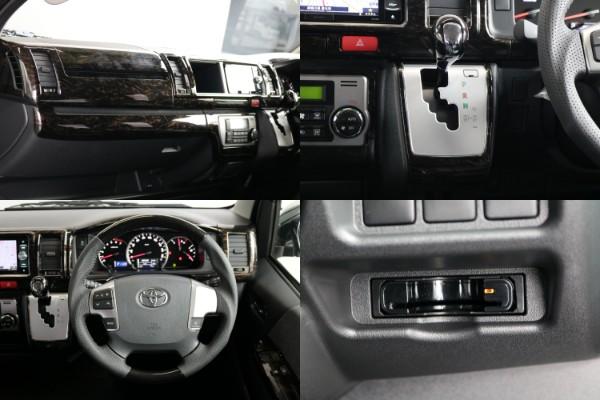 ケースペックのマホガニー調インテリアパネル&ハンドル&シフトノブ!!ETCも付いてます。 | トヨタ ハイエース 2.7 GL ロング ミドルルーフ 4WD TSS付 アレンジVer2