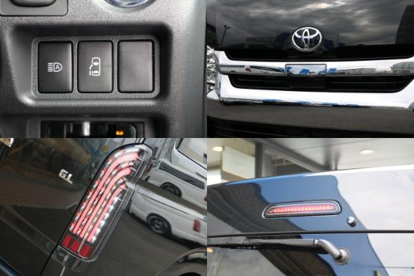 片側自動ドア&オートマチックハイビーム&自動ブレーキ&フレックスオリジナルLEDテール&ハイマウント付き。 | トヨタ ハイエース 2.7 GL ロング ミドルルーフ 4WD TSS付 アレンジVer2