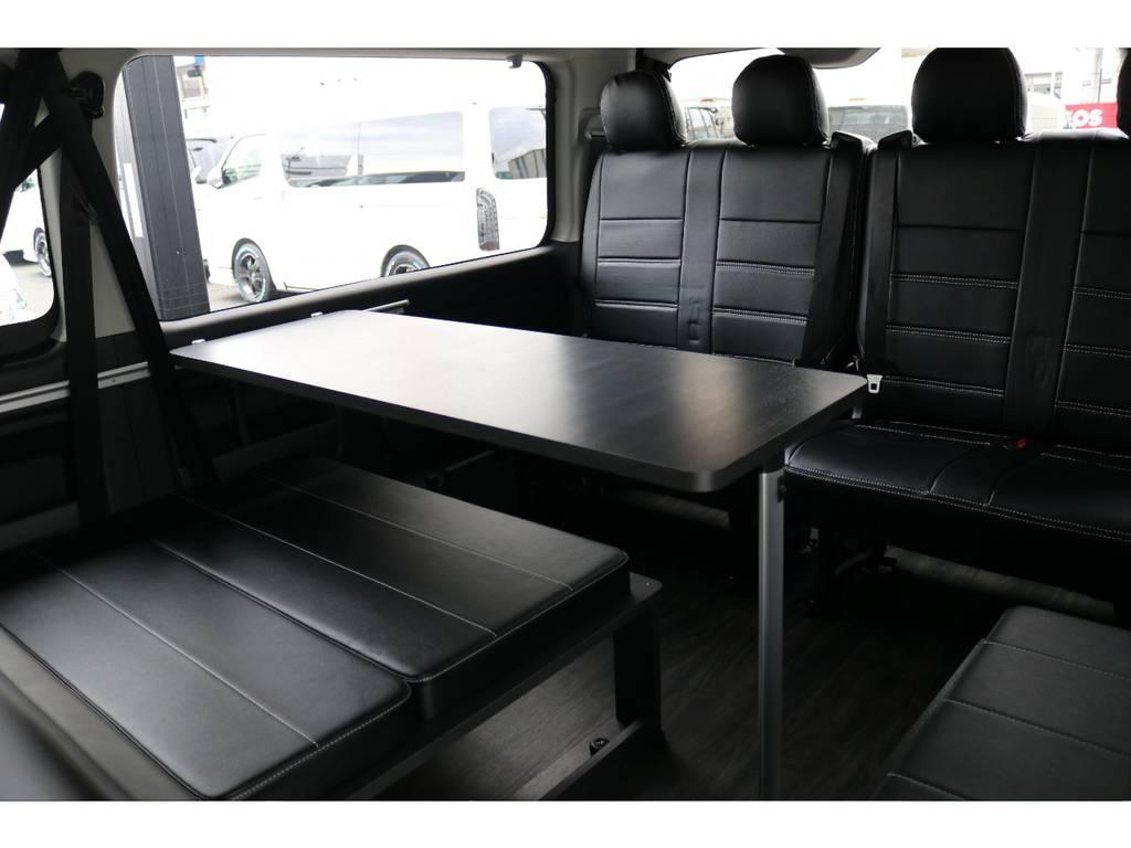 内装架装アレンジVer2(テーブル付き♪) | トヨタ ハイエース 2.7 GL ロング ミドルルーフ 4WD TSS付 アレンジVer2