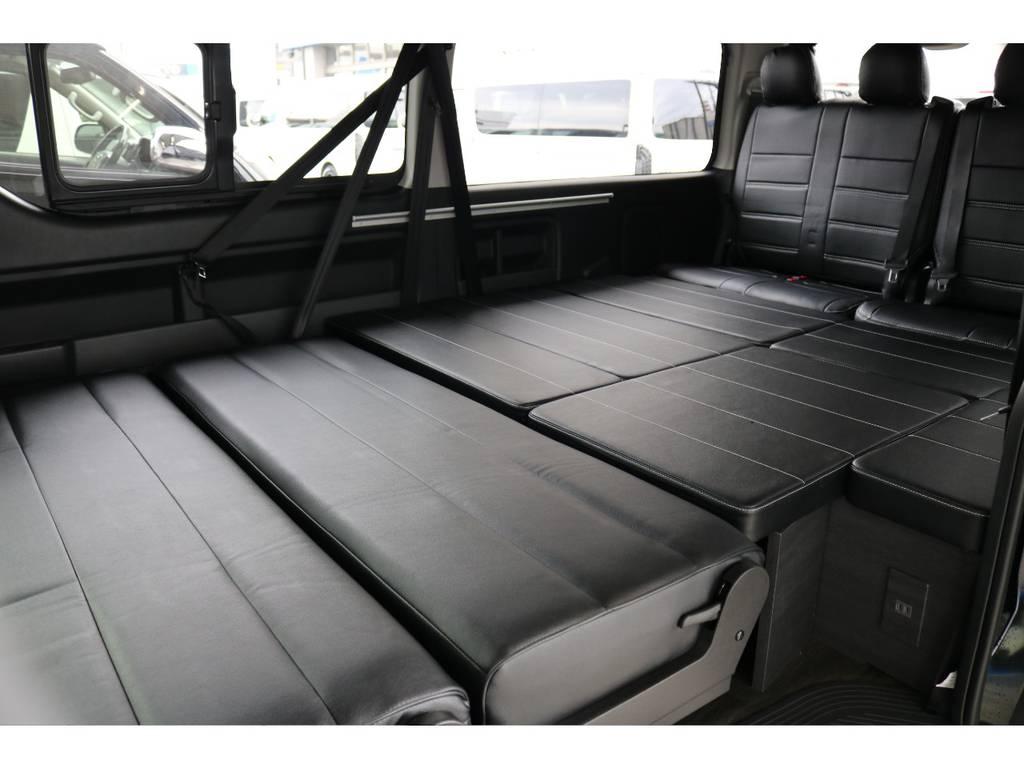 フルフラットにして車中泊も出来ます。 | トヨタ ハイエース 2.7 GL ロング ミドルルーフ 4WD TSS付 アレンジVer2