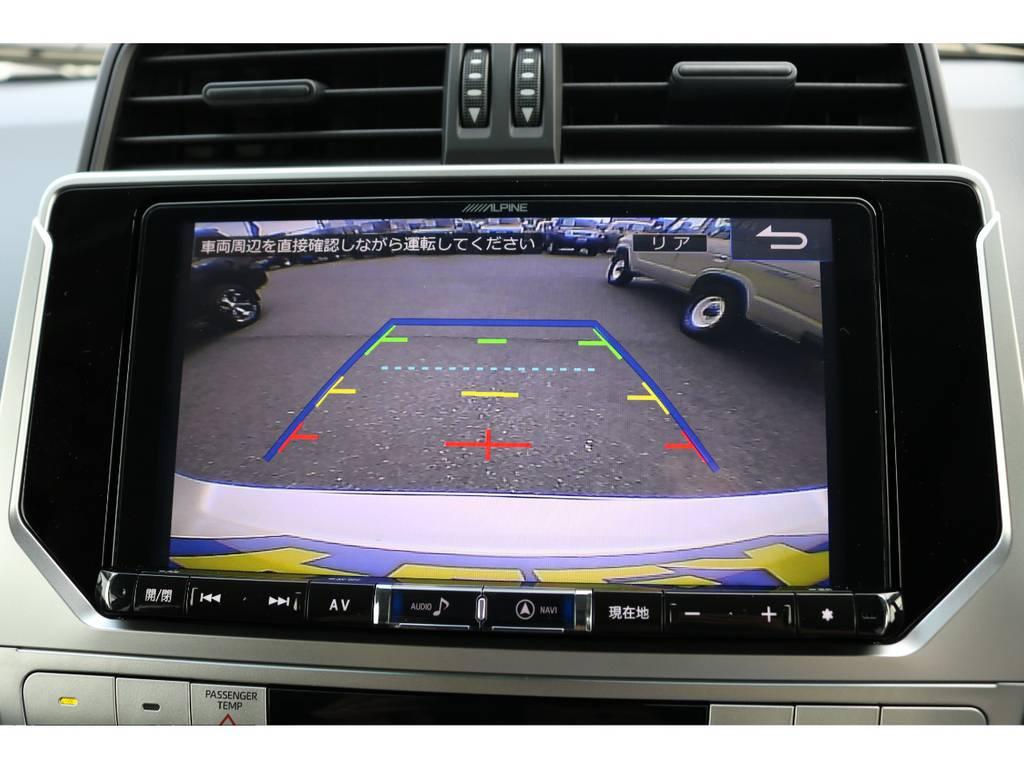 バックカメラも大画面で安全視界! | トヨタ ランドクルーザープラド 2.7 TX 4WD 7人 新車未登録車 20インチAW