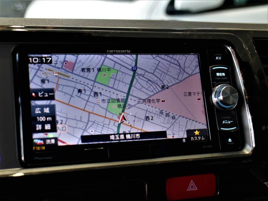 カロッツェリアSDナビ! ※音楽録音・DVD再生・フルセグ・Bluetooth接続可!   トヨタ ハイエース 2.7 GL ロング ミドルルーフ 4WD