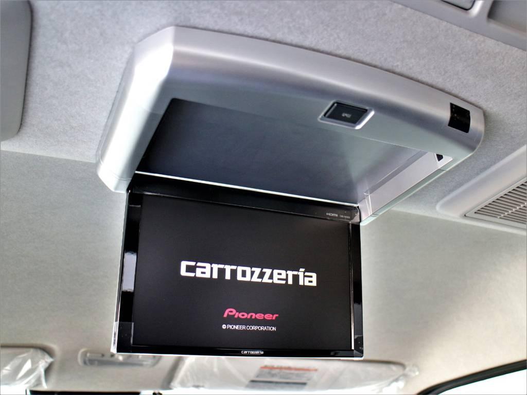 カロッツェリア後席フリップダウンモニター!   トヨタ ハイエース 2.7 GL ロング ミドルルーフ 4WD