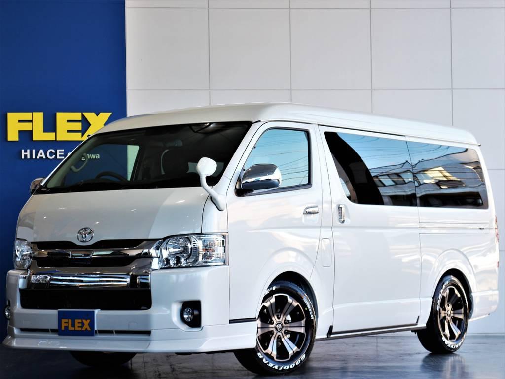 FLEXハイエースさいたま桶川店 お問い合わせはこちらまで 0487799122   トヨタ ハイエース 2.7 GL ロング ミドルルーフ 4WD