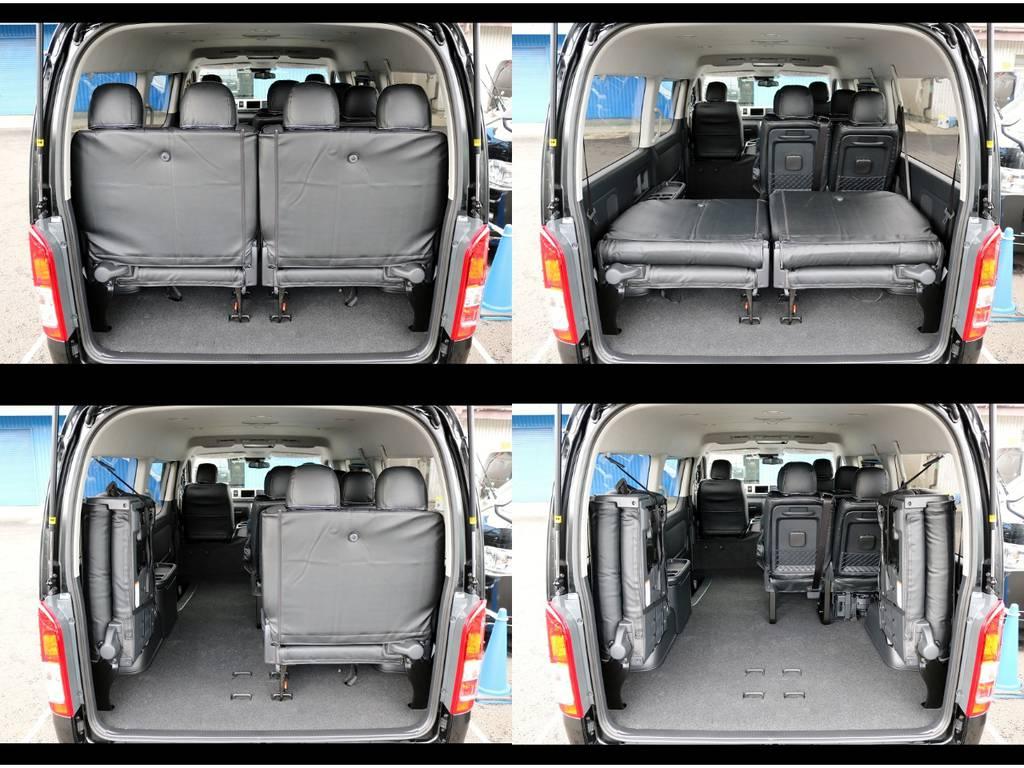 最後列のシートは跳ね上げ式です! | トヨタ ハイエース 2.7 GL ロング ミドルルーフ 4WD TSS付ナビパッケージ