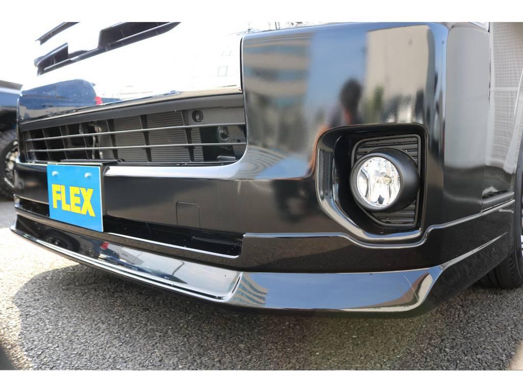 オリジナルフロントスポイラー装着!!   トヨタ ハイエース 2.7 GL ロング ミドルルーフ TSS付 アレンジVer1