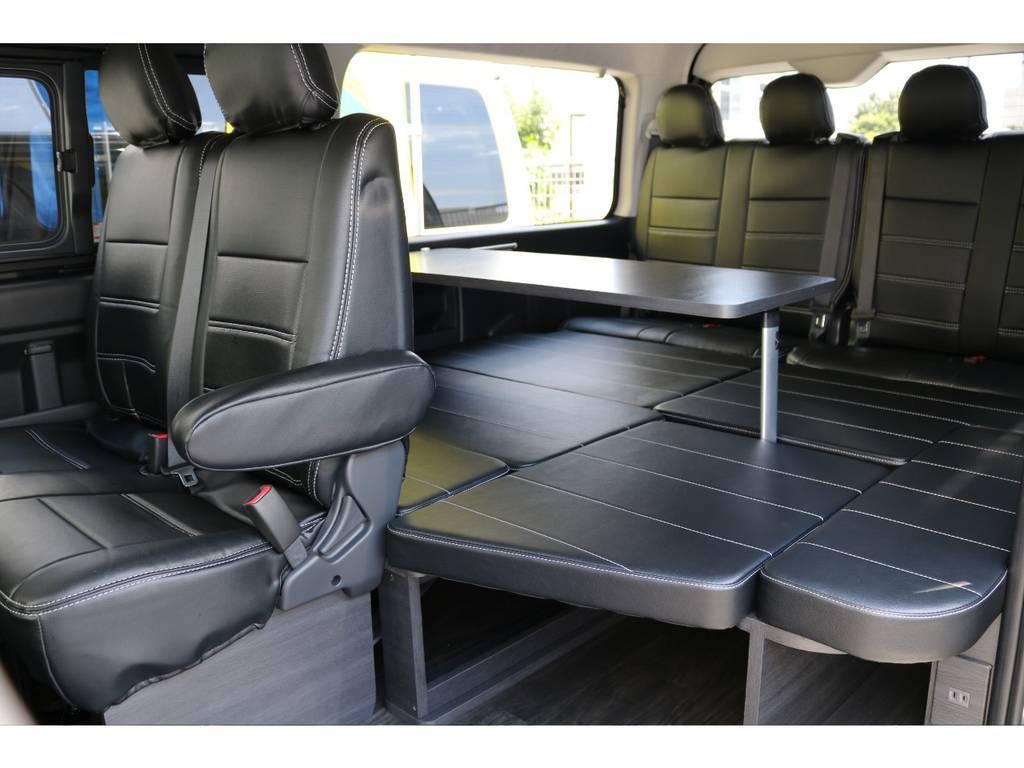 ベッドにもなりますよ!!   トヨタ ハイエース 2.7 GL ロング ミドルルーフ TSS付 アレンジVer1