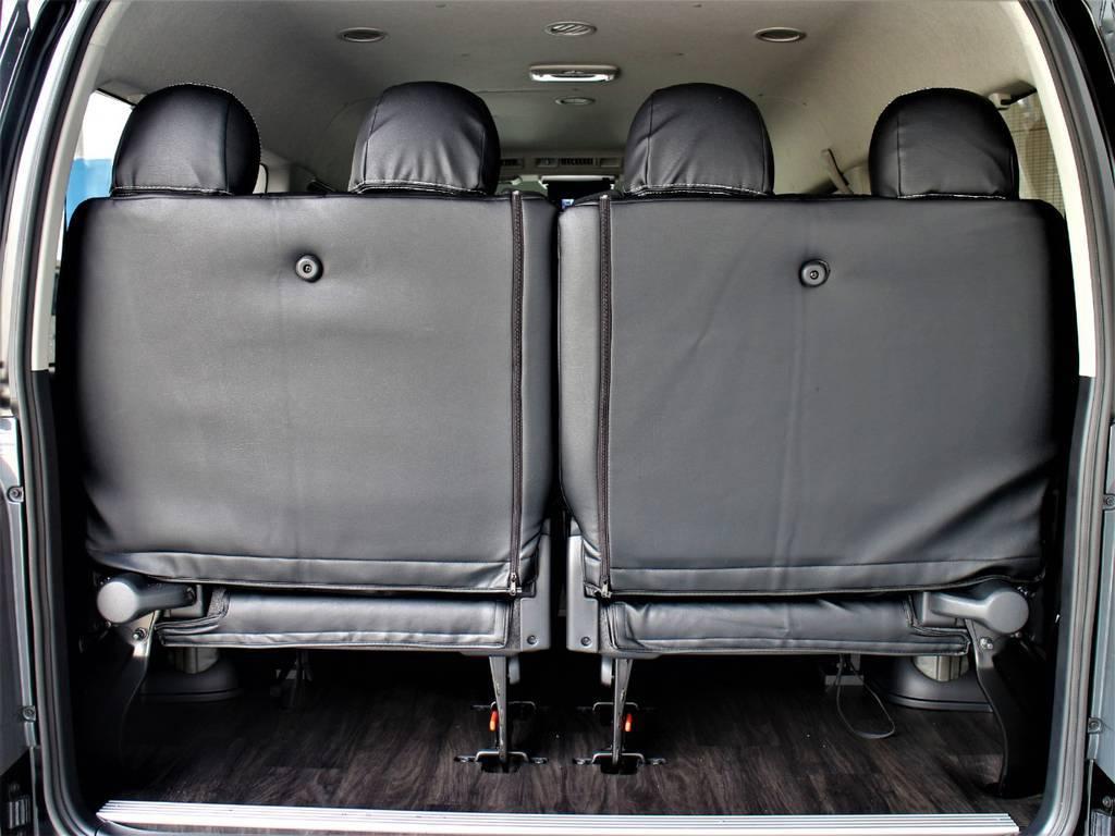 4列目は跳ね上げシートです! | トヨタ ハイエース 2.7 GL ロング ミドルルーフ TSS付シートアレンジVer1