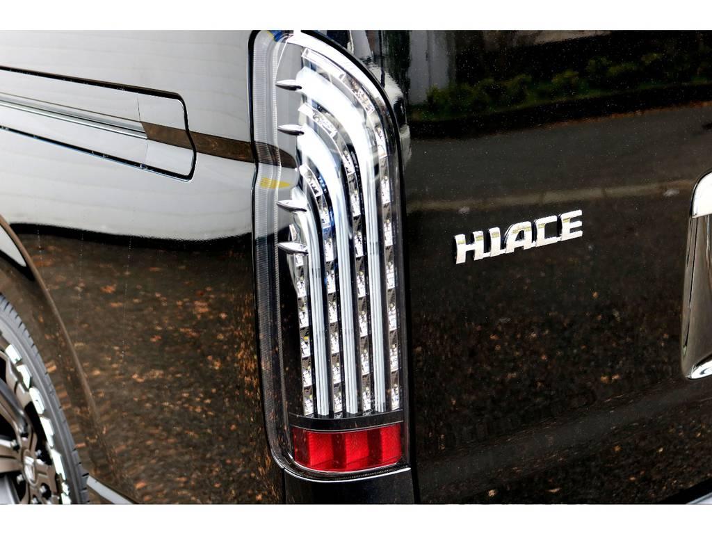 FLEX煌LEDテール! | トヨタ ハイエース 2.7 GL ロング ミドルルーフ TSS付シートアレンジVer1