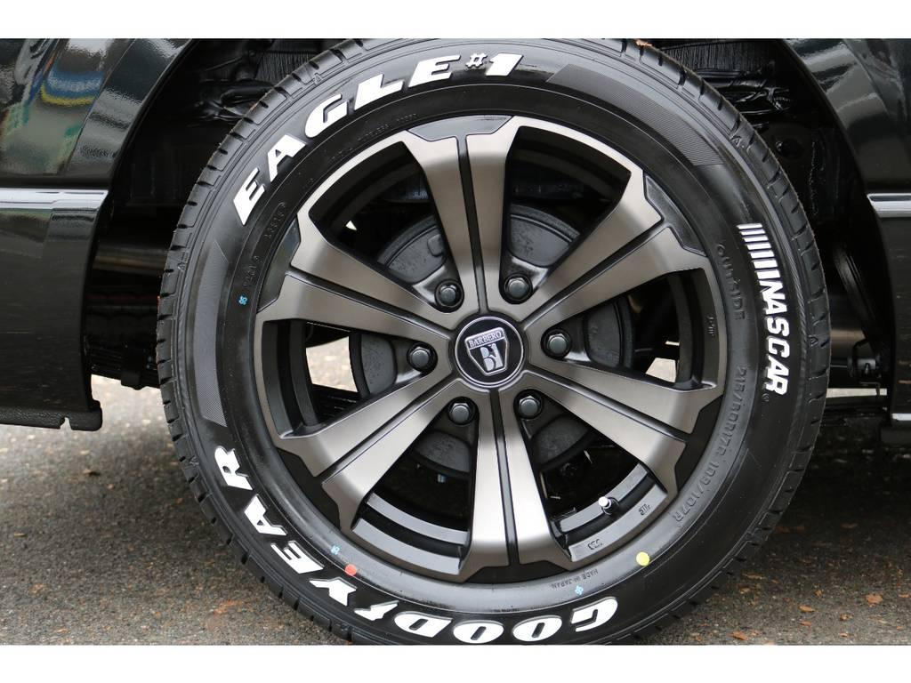 FLEXバルベロ17インチアルミ!GOODYEARタイヤ! | トヨタ ハイエース 2.7 GL ロング ミドルルーフ TSS付シートアレンジVer1