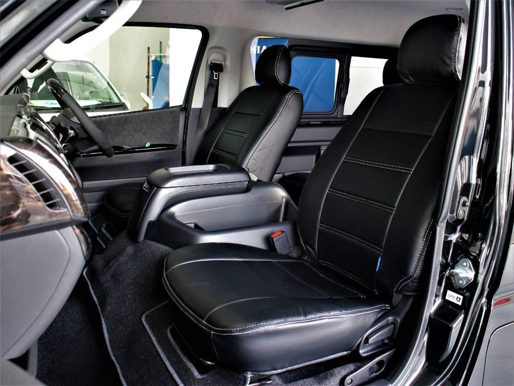 シートカバー装着! | トヨタ ハイエース 2.7 GL ロング ミドルルーフ TSS付シートアレンジVer1